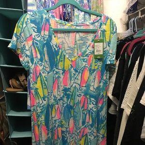 NWT Lilly Pulitzer Jessica Short Sleeve Dress Sz L